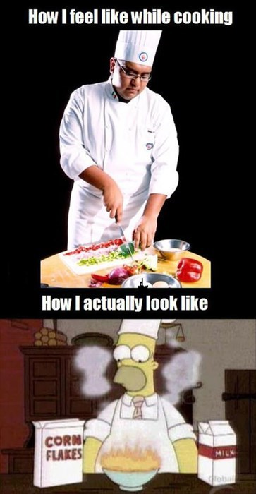cooking,comparision,the simpsons