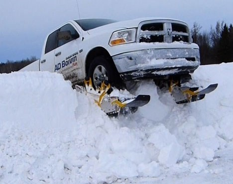 driving truck DIY winter skiing - 8047055616