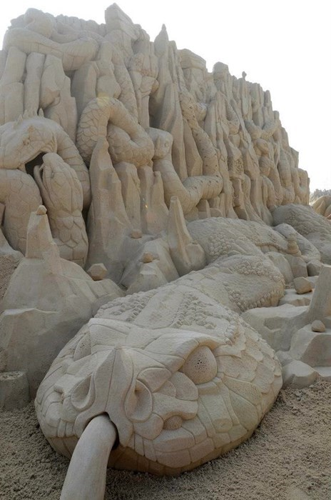 sculpture sand sculpture design beach - 8047058432