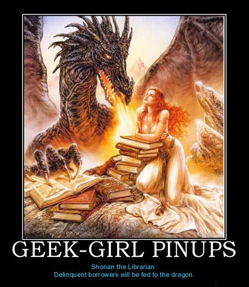 dragon geek awesome librarian funny - 8047137792