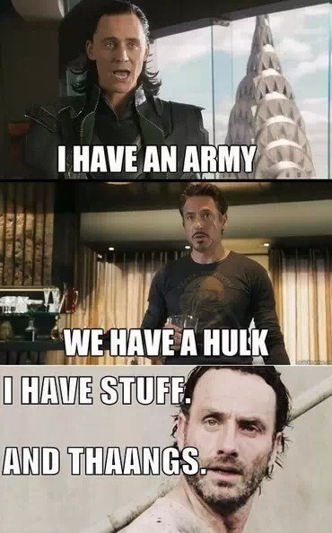 Rick Grimes,stuff and things,avengers