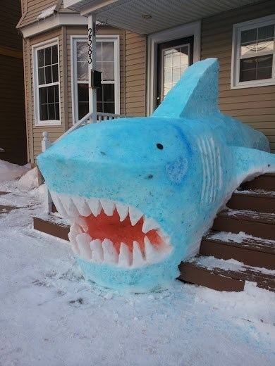 snow shark snow sculpture g rated win