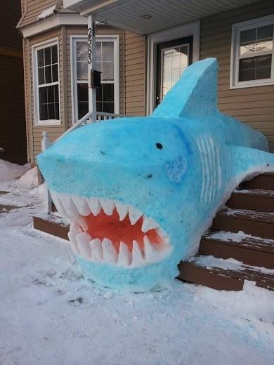 snow shark snow sculpture g rated win - 8047568640