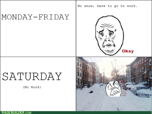 rage,snow,weekend,Okay