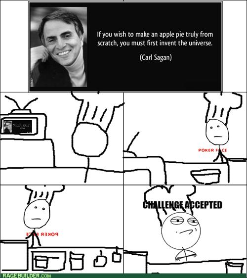 carl sagan Challenge Accepted baking universe - 8049106944