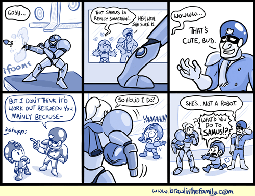 video games,mega man,relationships,samus,web comics