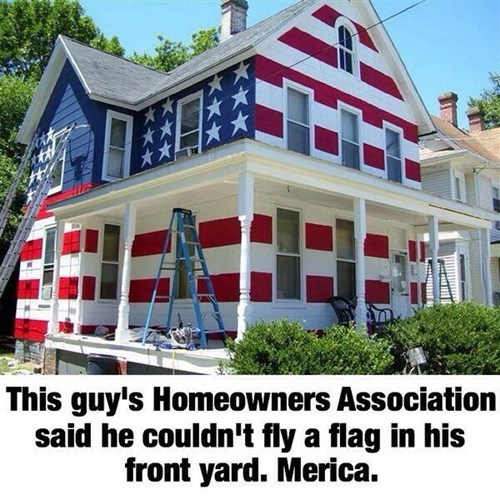 houses painting old glory - 8050580736