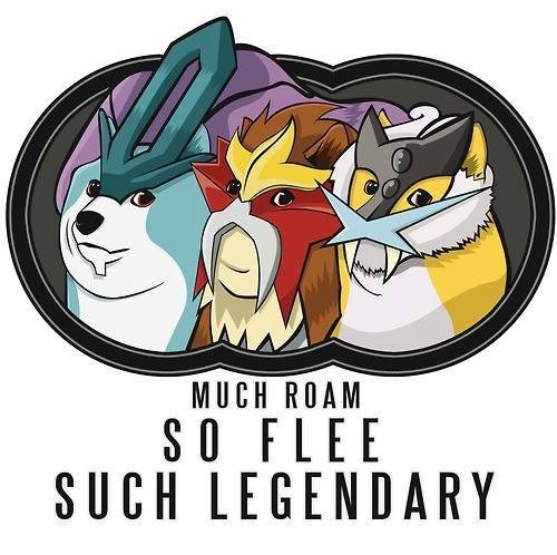 Pokémon,doge,run,legendary trio