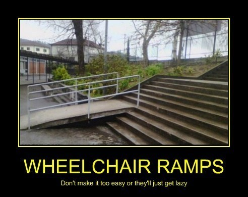 stairs,wheelchair,ramps,idiots,funny