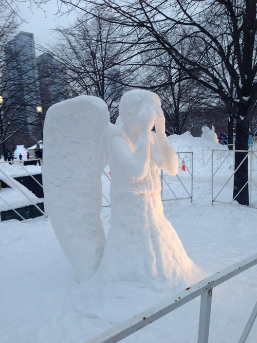 weeping angels doctor who snowman - 8052165120