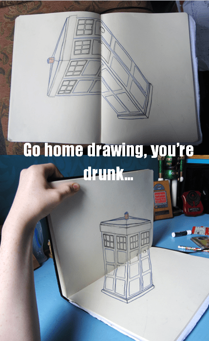 Fan Art 3d tardis