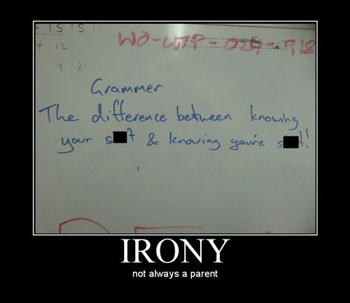 grammar unfortunate irony funny - 8052298496