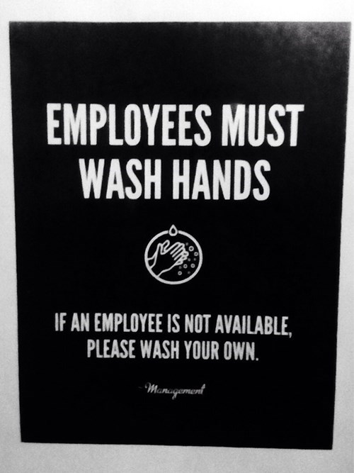 washing hands,bathrooms,employees