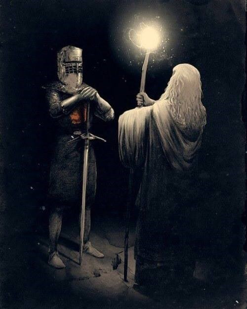 the black knight Lord of the Rings monty python gandalf you shall not pass - 8053053184