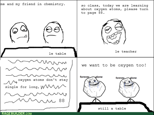 forever alone,oxygen,school,Chemistry