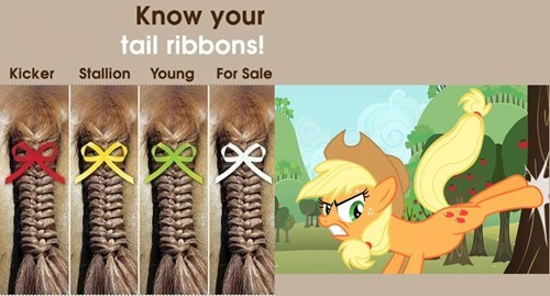 applejack now you know ribbons - 8053241344