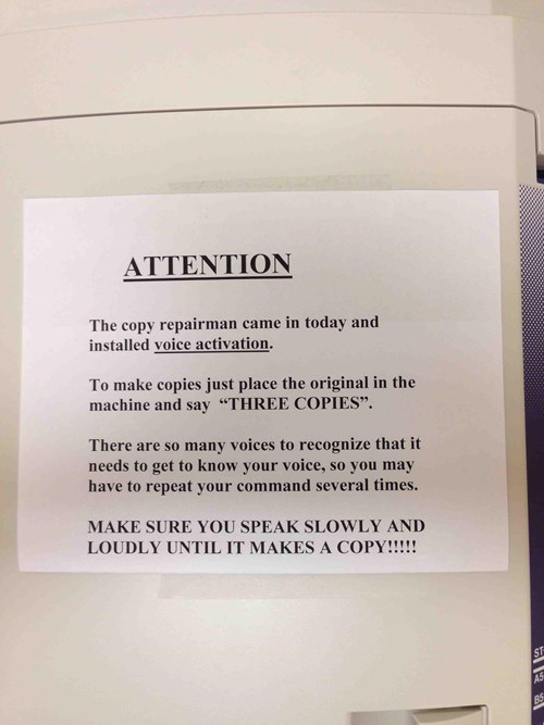 monday thru friday copier work troll prank g rated