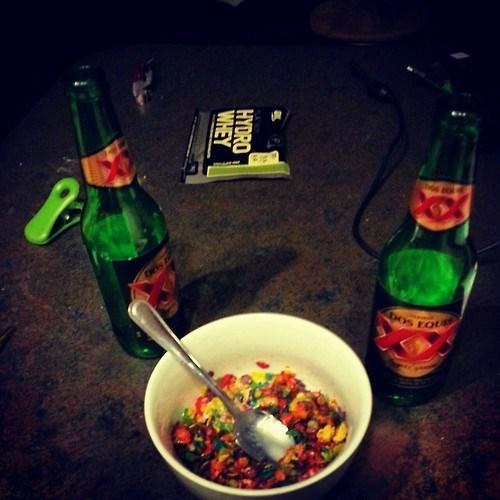 beer Fruity Pebbles gross funny breakfast - 8053514752