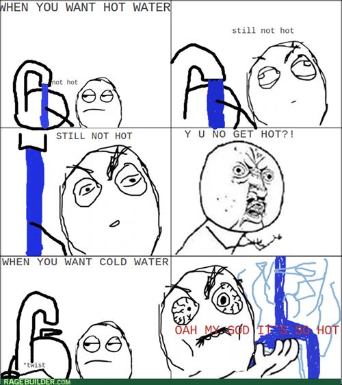 logic faucet rage Y U NO