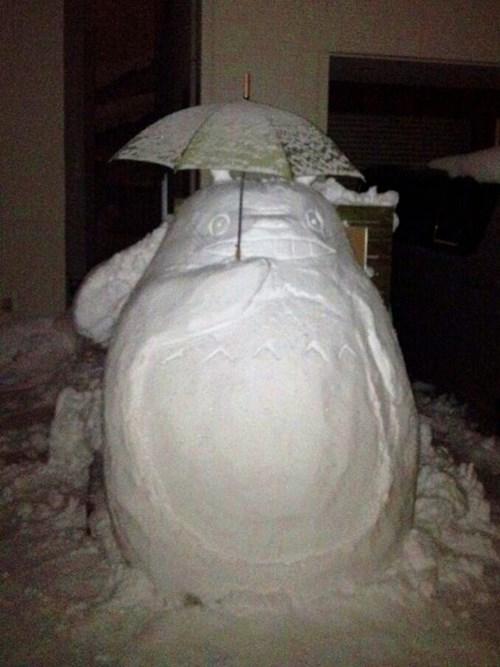 snow anime studio ghibli my neighbor totoro - 8053533952