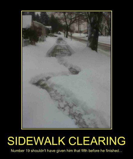 clearing snow winter sidewalk funny - 8053593600
