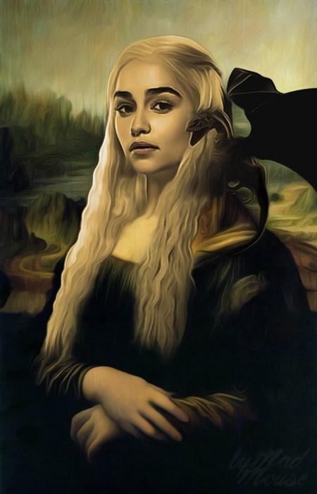 mona lisa,Game of Thrones,Daenerys Targaryen
