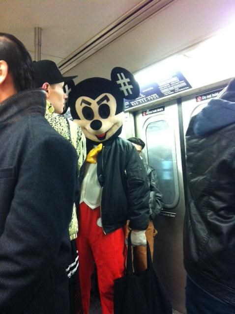 poorly dressed,mickey mouse,Subway
