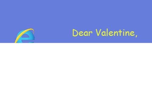 valentines,internet explorer,Valentines day