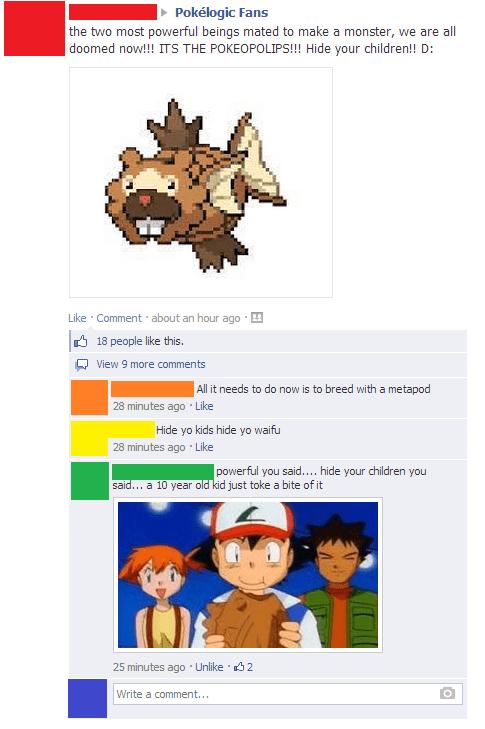 bidoof magikarp facebook Pokémon - 8053697024