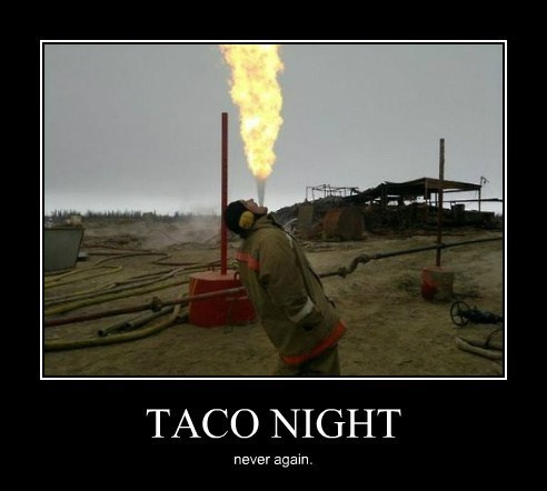 tacos,fire,delicious,funny