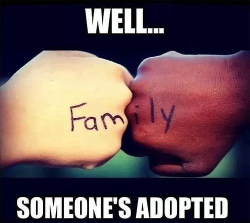 togetherness adopted family funny