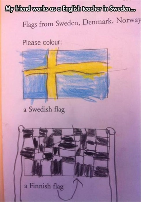 Sweden Finland flags - 8053793024