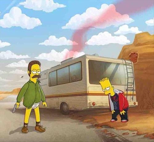breaking bad TV the simpsons - 8053863424