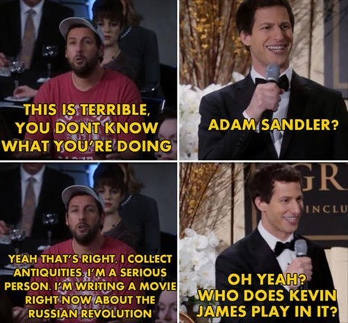 adam sandler,andy samberg,brooklyn nine-nine