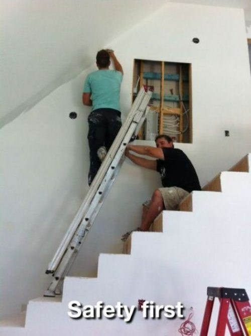 dangerous,ladder,safety first
