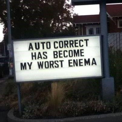 autocorrect AutocoWrecks sign - 8054120448