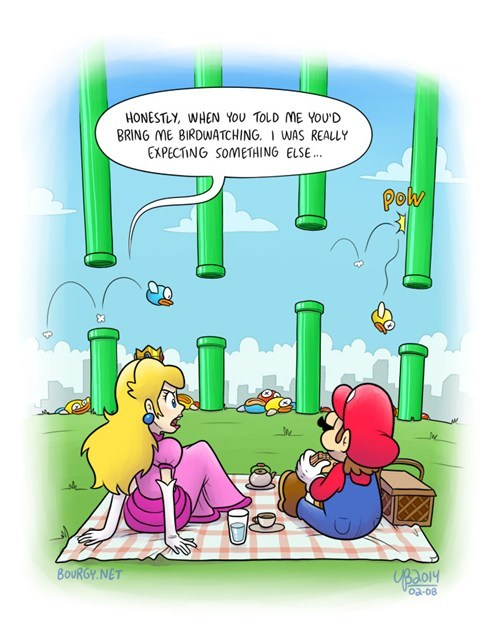 flappy bird,mario,web comics