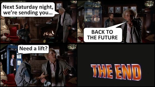 back to the future movies 11th Doctor - 8055148288