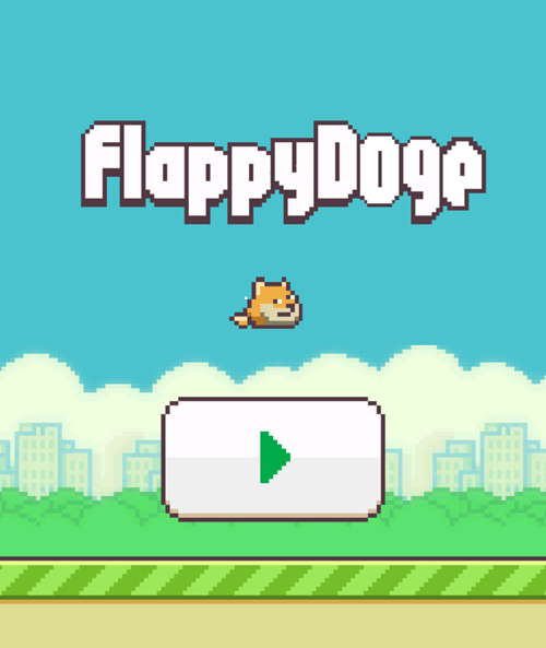 doge flappy bird Memes video games - 8055342080
