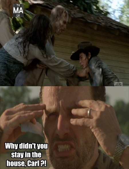 Rick Grimes stay in the house carl grimes - 8055372544