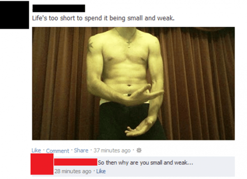 do you even lift facebook DYEL small and weak - 8055433984