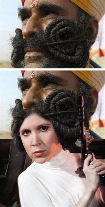star wars,mustaches,Princess Leia