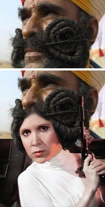 star wars mustaches Princess Leia - 8055661312