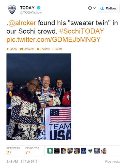 al roker olympics poorly dressed twins - 8055679232