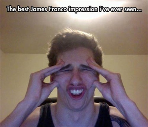 James Franco,imressions,funny,celeb