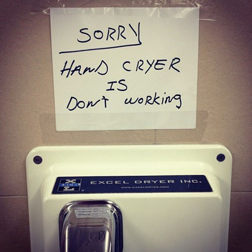 hand cryer,hand dryer,spelling