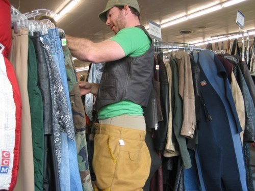 poorly dressed saggy pants vest leather - 8055779840