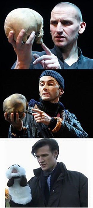 10th doctor 11th Doctor hamlet 9th doctor puppets - 8055834368