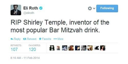 twitter,eli roth,shirley temple