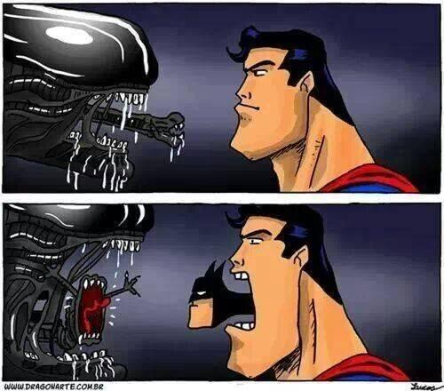Aliens batman superman web comics - 8056054016